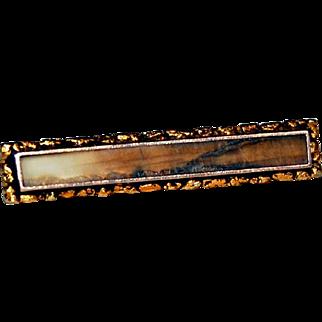 vintage NATIVE GOLD NUGGETS brooch - Alaska or California GOLD RUSH