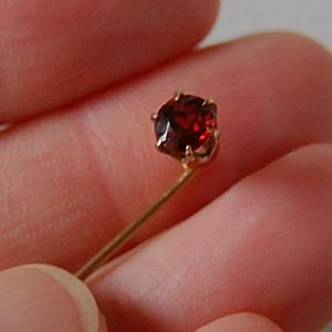 c1900, Antique GARNET Stick Pin - 14K Gold