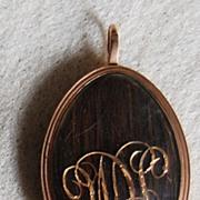 Georgian HAIR LOCKET Pendant / Brooch - 14K Gold
