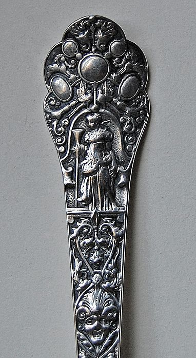 c1870 - MEDICI PATTERN - Gorham, Sterling Serving Spoon