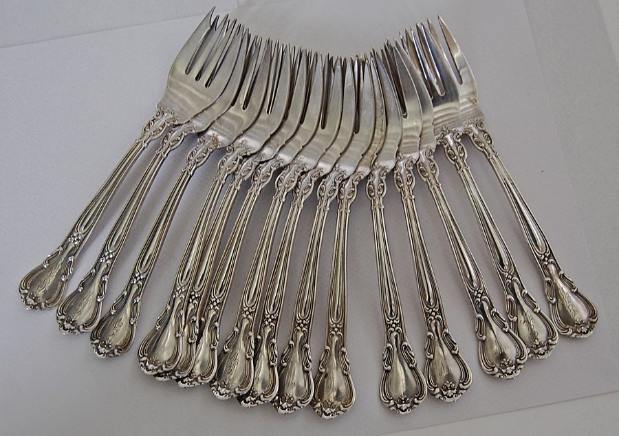 CHANTILLY - Gorham, (set 15) Sterling Salad Forks
