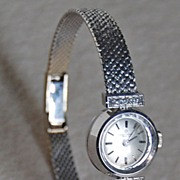 Vintage BAUME & MERCIER Wristwatch - Diamonds, 18K White Gold