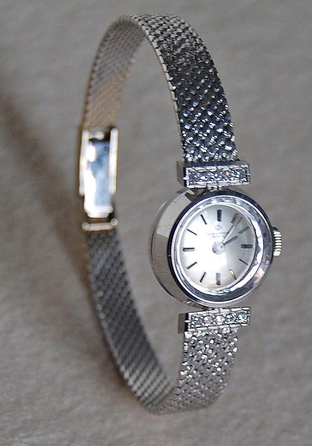 Vintage BAUME & MERCIER Wristwatch - Diamonds, 18K White Gold