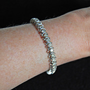 very fine DIAMOND TENNIS BRACELET - 14k white gold  (4 carats)