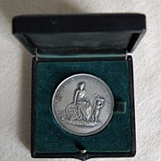 Vintage STERLING MEDAL: Penna. Horticulture Society (Medallic Art Co.) / Original CASE