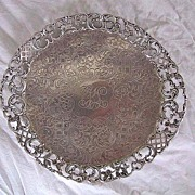 Ornate Antique STERLING DISH (Sterling Tray) - c1890