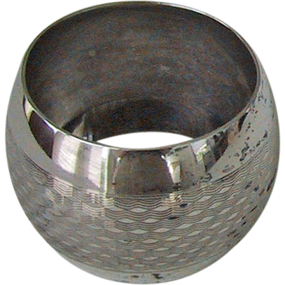 Vintage STERLING SILVER NAPKIN RING - English Sterling, Weave Pattern