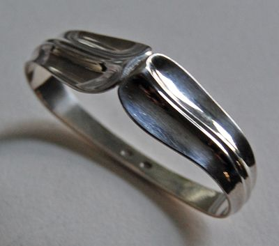 Vintage Signed DANISH STERLING Napkin Ring - W & S Sorensen, LOTUS