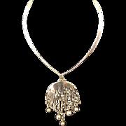 Pentti Sarpaneva Sterling Modernist Pendant Necklace Finland