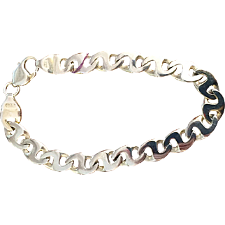 14K Men's Yellow Gold Bracelet Mariner's Gucci Link