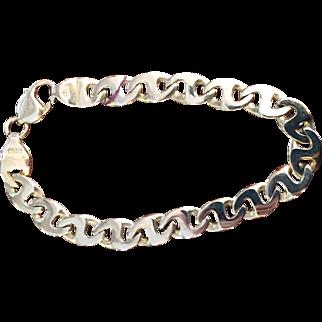 14K Men's Yellow Gold Bracelet Mariner's Gucci Link