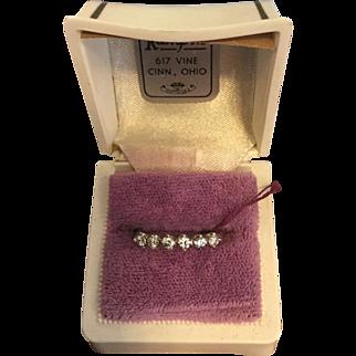 Vintage 18k White Gold Diamond Band Ring