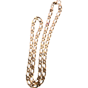 "22"" 14k Yellow Gold Curb Style Chain Necklace"