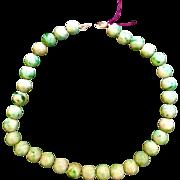 Beautiful Jade Jadeite 10mm 14k Bead Necklace