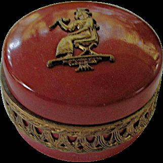 1920s Egyptian Revival Deco Hallmarked German Porcelain Trinket Box