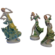 Delightful Art Deco German Porcelain Dancing Trio