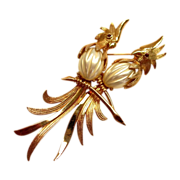 Gorgeous Large Pearlescent Belly Birds Brooch