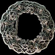 1920s Celtic Wreath Brooch