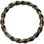 Thick Cloisonne Twisted Rope Bracelet