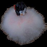 French Swans Down Powder Puff Half Doll