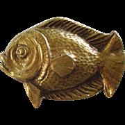 Novel 1920s French Golden Fish Brooch