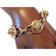 Coro Gold Tone Link Bracelet