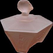 Remarkable Ramses  Art Deco Powder Jar Flapper Girl