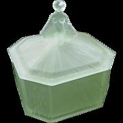 Divine Art Deco Ramses Roxana Powder Jar