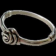 Sterling Rose Clamper Bracelet