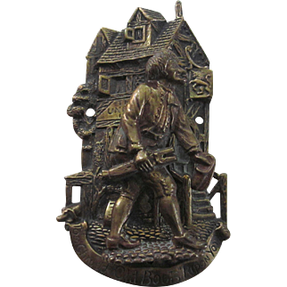 English Brass Unicorn Inn Tom Chrudd Door Knocker