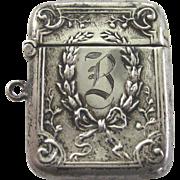Sterling Silver Vesta Case Circa 1900