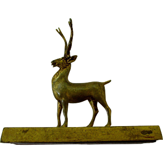 19th Century Stag Elk Desk Ornament from England