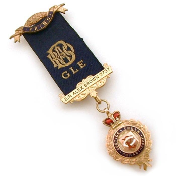 9K Gold Enamel Royal Order of Buffalo 1921 Medal