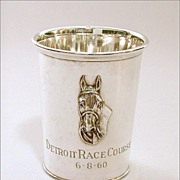 RESERVED Sterling Kentucky Derby Style Julep Cup Trophy Raised Horse Head