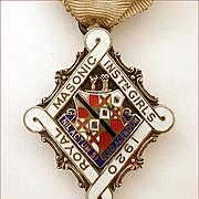 1920 Royal Masonic Institution for Girls Sterling Enamel Medal