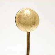 Antique Mined 18K Gold Button Shaped Nugget Stickpin