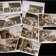 Houston Fire Department 10 Original B&W Photographs Fire Trucks Engines District Fire Chief