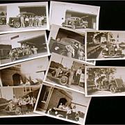 Houston Fire Department 10 Original B&W Photographs Fire Trucks Engines District Fire Chief