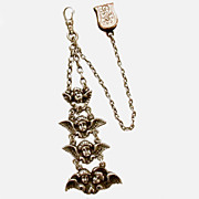 Superb Victorian Sterling Long Angels Watch Fob