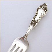 Sterling Baby Fork - Meadow Rose by Watson