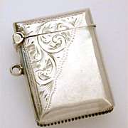 Antique Sterling Vesta Match Safe by Rolason Bros. 1910 Birmingham