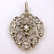 800 Silver Italy Medici Coat of Arms or Crest Pendant