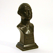 George Washington 1932 Bicentennial Pot Metal Bust by Almar Metal Arts
