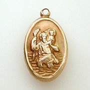 10k Gold St. Christopher Medal by Creed