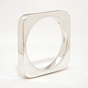 Tiffany & Co. Joachim S'Paliu Heavy Square Sterling Bangle Bracelet