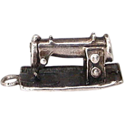 Sterling Sewing Machine Charm
