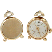 Swank Alarm Clock Wrist Watch Cufflinks