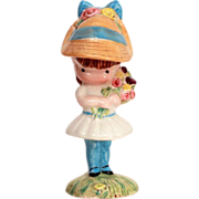 "Joan Walsh Anglund Beswick England Porcelain Figurine ""Girl with Flowers"" 1966, 1971"