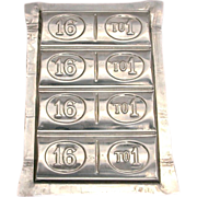 1896 Presidential Race WILLIAM JENNINGS BRYAN 16:1 Chocolate Candy Mold - White House President Politics - 16 to 1 Free Silver