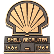 Shell Oil Recruiter 1960's Bronze Advertising Paperweight